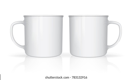 mug mock up vector template Easy to change colors