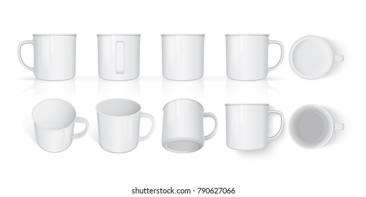 mug mock up vector template Easy to change colors