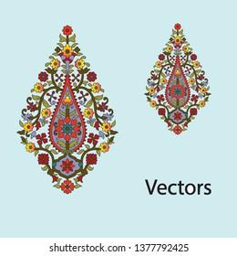 mughal flower motif bunch pattern