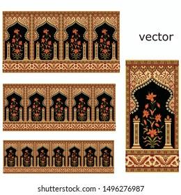 Mughal motif border pattern background design