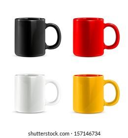 Mugs vector set