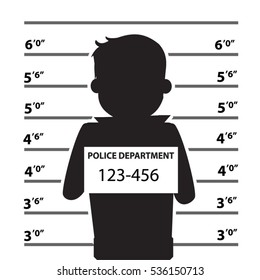 Mugshot Of Silhouette Vector Illustration