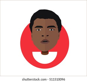 Muhammad Ali Clay ..Vector illustration flat design