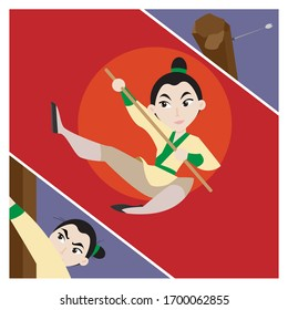 Mulan in the image of a guy