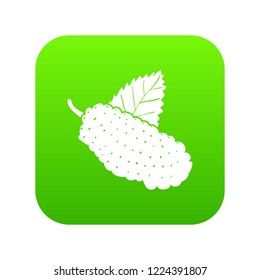 Mulberry icon green vector isolated on white background
