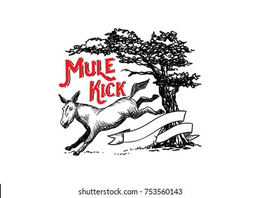 Mule Kick Illustration Design