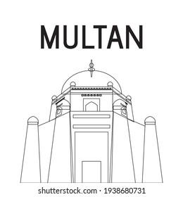 Multan Outline City Landmark, Pakistan