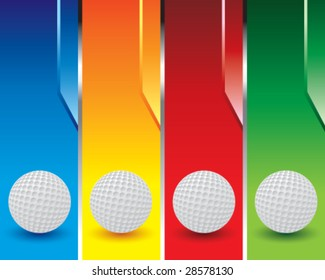 multi color golf ball banners