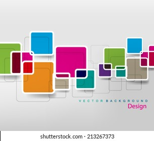 Multi Colored Floating Round Box Abstract Design