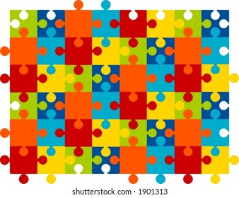 multi colored puzzle background
