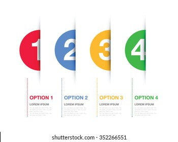 multi coloured numbered option background