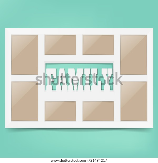 Multi Frame Set Empty Space Family Stock Vector (Royalty Free) 721494217