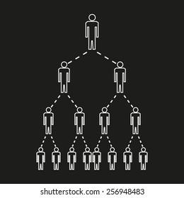 Multi Level Marketing Concept