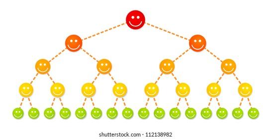 Multi level marketing illustration