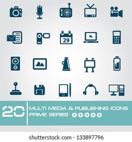 Multi media & Publishing icons,Prime series,vector