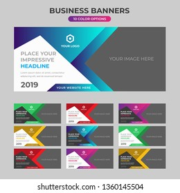 Multi purpose creative banner designs for different color options for your business, company or agency.