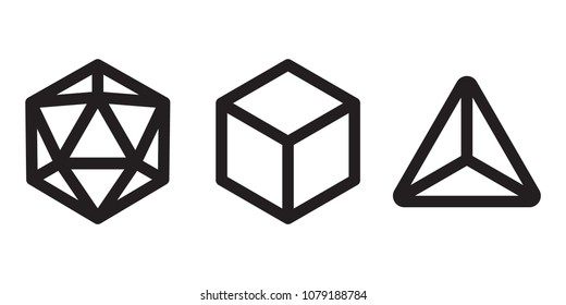 Multi Sided Dice Outline Icons