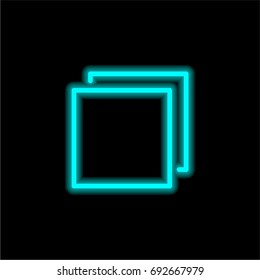 Multi Tab blue glowing neon ui ux icon. Glowing sign logo vector