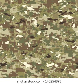 Multi Terrain Camouflage Seamless Background Pattern