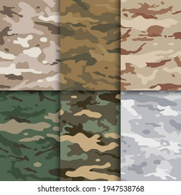 Multicam camouflauge pattern. Seamless camo background vector.