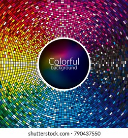 Multicolor abstract lights disco party entertainment colorful background design.