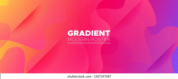 Multicolor Abstract Poster. Gradient Background. Minimal Concept. Bright Wave Brochure. Abstract Shapes. Rainbow Geometric Background. Vivid Minimal Pattern. Light Dynamic Waves. 3d Fluid Banner.