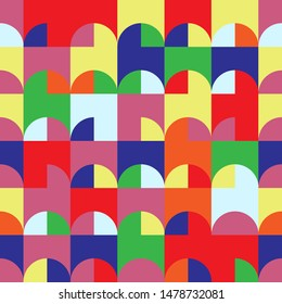 Multicolor abstract vector seamless pattern