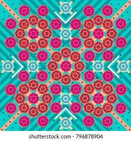 Multicolor background - Geometric design