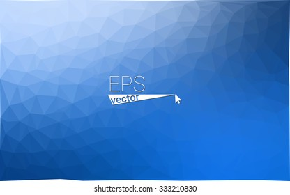 multicolor blue geometric rumpled triangular low poly style gradient illustration graphic background. Vector polygonal design for your business.