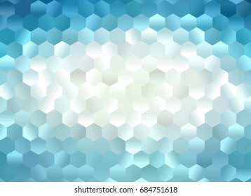 Multicolor blue geometric rumpled triangular low poly style gradient illustration graphic background. Polygonal design for your business. Vector illustration eps 10.
