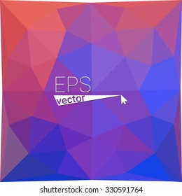 multicolor blue purple pink geometric rumpled triangular low poly style gradient illustration graphic background. Vector polygonal design for your business.