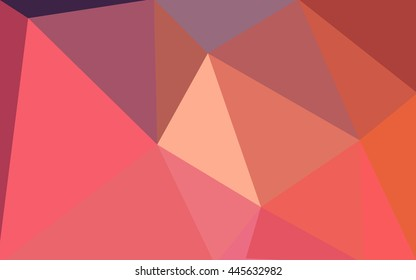 Multicolor blue, red polygonal illustration, which consist of triangles.