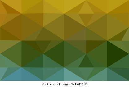 Multicolor blue, yellow, orange polygonal illustration, which consist of triangles. Geometric background in Origami style with gradient. Triangular design for your business.