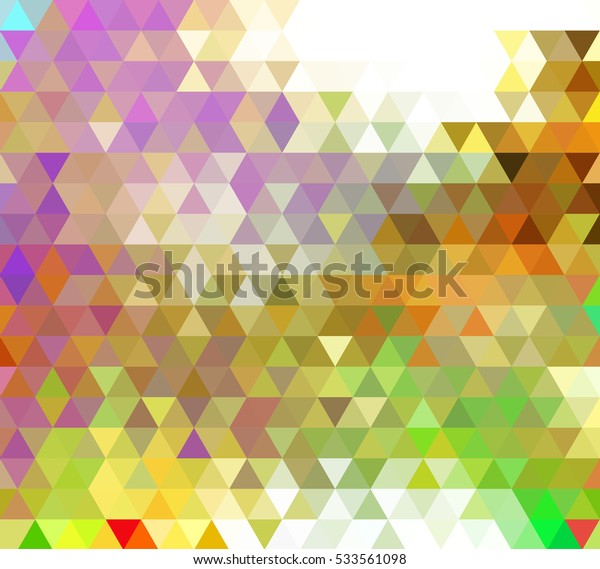 Multicolor blue, yellow, orange polygonal illustration, which consist of triangles. Geometric background in Origami style with gradient. Triangular design for your business