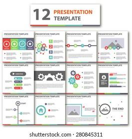 Multicolor Business Template brochure flyer design Set Presentation