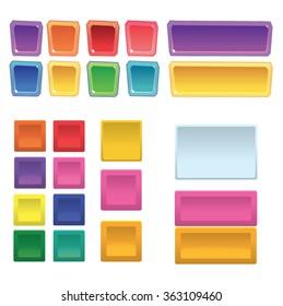 Multicolor Button Set. Vector Illustration.