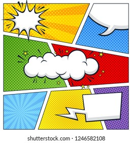 multicolor comic vector illustration