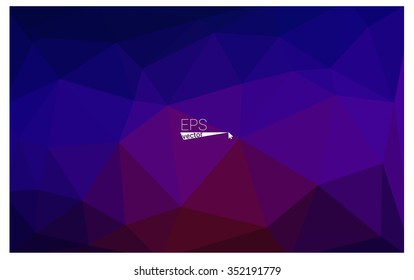 Multicolor dark blue, red geometric rumpled triangular low poly origami style gradient illustration graphic background. Vector polygonal design for your business.