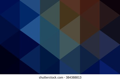 Multicolor dark blue, yellow, orange polygonal illustration, which consist of triangles. Geometric background in Origami style with gradient. Triangular design for your business.