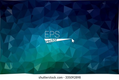 Multicolor dark green, blue  geometric rumpled triangular low poly style gradient illustration graphic background. Vector polygonal design for your business.