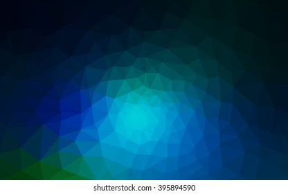 Multicolor dark green, blue polygonal illustration, which consist of triangles. Geometric background in Origami style with gradient. Triangular design for your business.