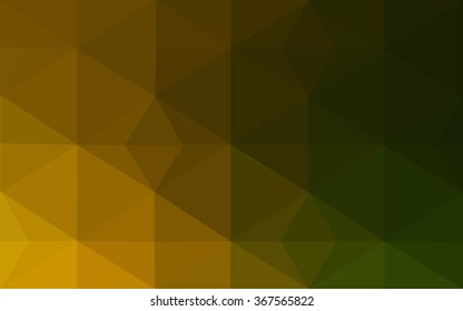Multicolor dark green, yellow, orange polygonal illustration, which consist of triangles. Geometric background in Origami style with gradient. Triangular design for your business.