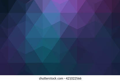 Multicolor dark pink, blue polygonal illustration, which consist of triangles. Geometric background in Origami style with gradient. Triangular design for your business.