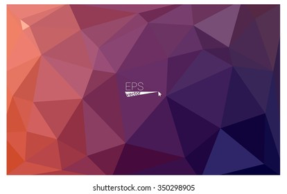Multicolor dark pink, red, orange geometric rumpled triangular low poly origami style gradient illustration graphic background. Vector polygonal design for your business.