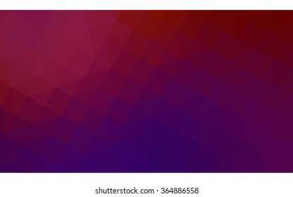 Multicolor dark pink, yellow polygonal illustration, which consist of triangles. Geometric background in Origami style with gradient. Triangular design for your business in vector.