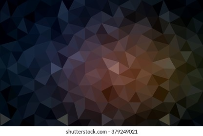 Multicolor dark pink, yellow polygonal illustration, which consist of triangles. Geometric background in Origami style with gradient. Triangular design for your business.