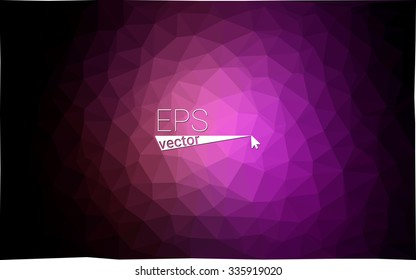 multicolor dark purple geometric rumpled triangular low poly style gradient illustration graphic background. Vector polygonal design for your business.