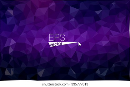 multicolor dark purple, pink geometric rumpled triangular low poly style gradient illustration graphic background. Vector polygonal design for your business.