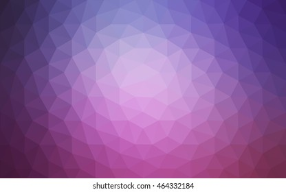 Multicolor dark purple, pink polygonal illustration, which consist of triangles. Geometric background in Origami style with gradient. Triangular design for your business.