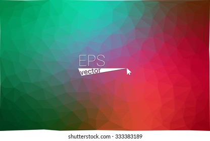 Multicolor dark red, green geometric rumpled triangular low poly style gradient illustration graphic background. Vector polygonal design for your business.